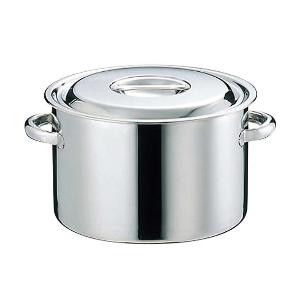 【まとめ買い10個セット品】 【業務用】【 即納 】 EBM 18-8 半寸胴鍋(目盛付)30cm 手付