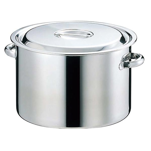 【まとめ買い10個セット品】 【業務用】【 即納 】 EBM 18-8 半寸胴鍋(目盛付)42cm 手付