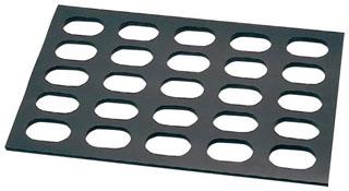 【まとめ買い10個セット品】 【業務用】ゴム製 小判型 ダコワーズ 8枚取用(20穴)