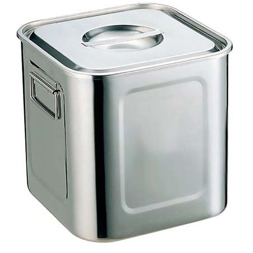 【まとめ買い10個セット品】UK 18-8 角型 キッチンポット 21cm 手付【 ストックポット・保存容器 】 【ECJ】