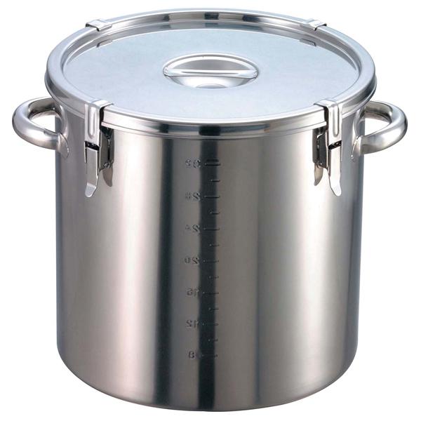 【まとめ買い10個セット品】 【業務用】【 即納 】 EBM 18-8 パッキン寸胴鍋(目盛付)33cm 手付