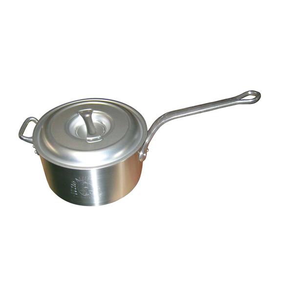 深型 片手鍋(目盛付)27cm【 【ECJ】 アルミ 【まとめ買い10個セット品】キング 】 ガス専用鍋
