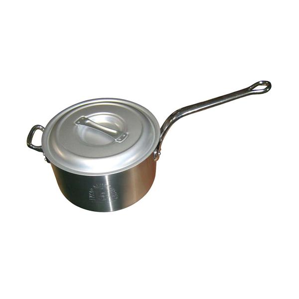 【まとめ買い10個セット品】 【業務用】【 即納 】 アルミ キング 深型 片手鍋(目盛付)30cm