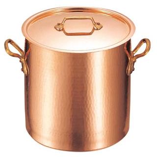 【業務用】ムヴィエール 銅 寸胴鍋(蓋付)2148-32 32cm