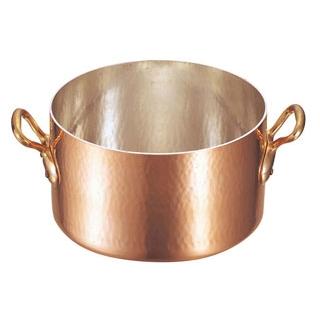 【業務用】ムヴィエール 銅 半寸胴鍋(蓋無)2151-32 32cm