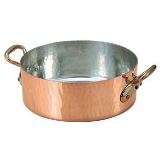 ムヴィエール 銅 平鍋(蓋無)2152-36 36cm【 ガス専用鍋 】 【ECJ】
