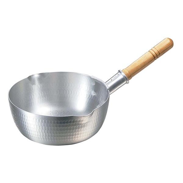 【まとめ買い10個セット品】ナカオ アルミ打出 雪平鍋(目盛付)25.5cm 両口【 鍋全般 】 【ECJ】