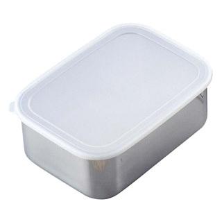 【まとめ買い10個セット品】 【業務用】18-8 深型 キッチンバット 密閉蓋付 小(220×170)