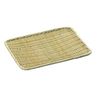 【まとめ買い10個セット品】 【業務用】竹製 角盆ザル 9寸(210×270)