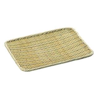 【まとめ買い10個セット品】 【業務用】竹製 角盆ザル 尺1(270×330)