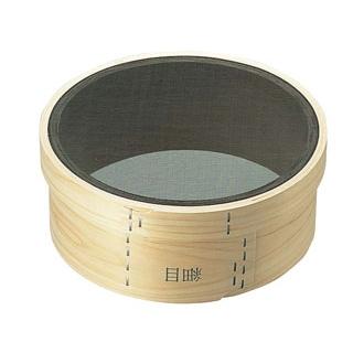 【まとめ買い10個セット品】 【業務用】木枠 裏漉 代用毛 細目(24メッシュ)6寸(18cm)