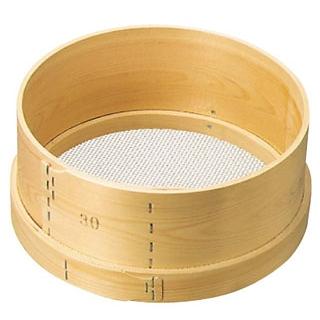 【まとめ買い10個セット品】 【業務用】木枠 ステン張 パン粉フルイ 尺(30cm)6.5メッシュ