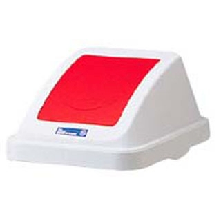 【まとめ買い10個セット品】 【業務用】カラー分類ボックス30L フタ プッシュ用 レッド