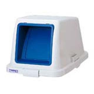 【まとめ買い10個セット品】カラー分類ボックス70L フタ プッシュ用 ブルー【 清掃・衛生用品 】 【ECJ】