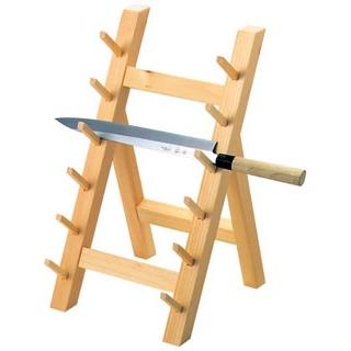【まとめ買い10個セット品】木製 庖丁掛け 6段(10301)【 砥石・庖丁差し 】 【ECJ】