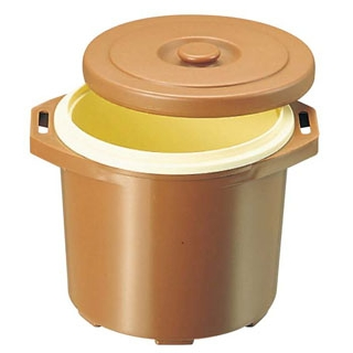 【まとめ買い10個セット品】 【業務用】プラスチック 保温食缶 ごはん用 DF-R2 小 D/B