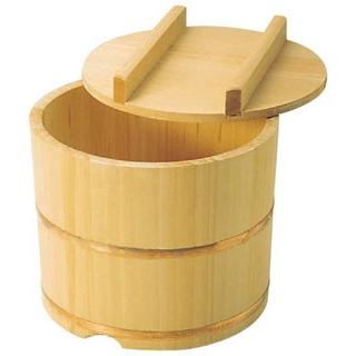 【まとめ買い10個セット品】 【業務用】さわら製 飯枢(上物)のせ蓋型 21cm