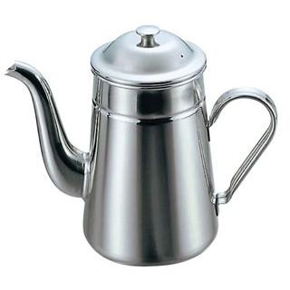 【まとめ買い10個セット品】18-8 コーヒーポット 太口 #13 1600cc【 カフェ・サービス用品・トレー 】 【ECJ】
