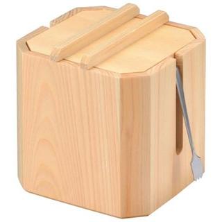 【まとめ買い10個セット品】 【業務用】木製ガリ入れ(中合・トング付)大 W-708