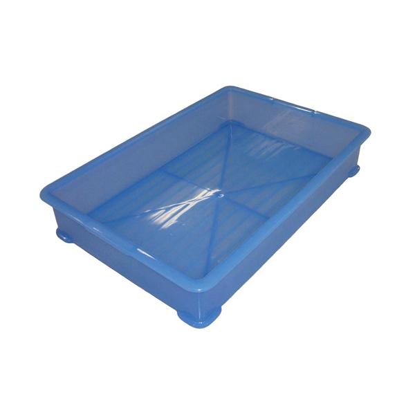 【まとめ買い10個セット品】 【業務用】【 即納 】 EBM PP半透明カラー番重 A型 小 ブルー(サンコー製)