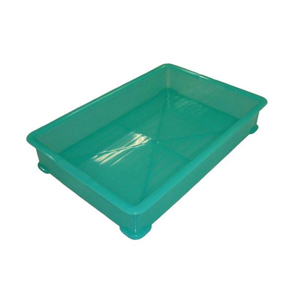 【まとめ買い10個セット品】 EBM PP半透明カラー番重 A型 小 グリーン(サンコー製) 【ECJ】【 運搬・ケータリング 】