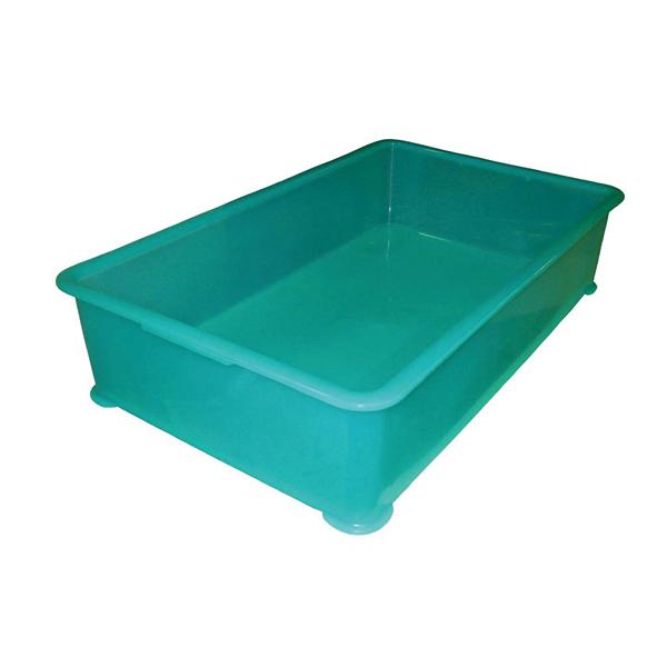 【まとめ買い10個セット品】 EBM PP半透明カラー番重 A型 特大 グリーン(サンコー製) 【ECJ】【 運搬・ケータリング 】