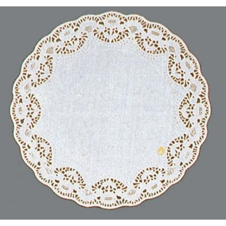 【まとめ買い10個セット品】 【業務用】ホワイトレースペーパー 丸型(500枚入)8号