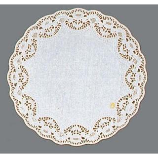 【まとめ買い10個セット品】 【業務用】ホワイトレースペーパー 丸型(500枚入)10号