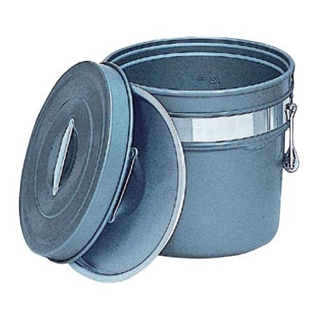 アルマイト 段付二重食缶(内外超硬質ハードコート)249-H 14L【 運搬・ケータリング 】 【ECJ】