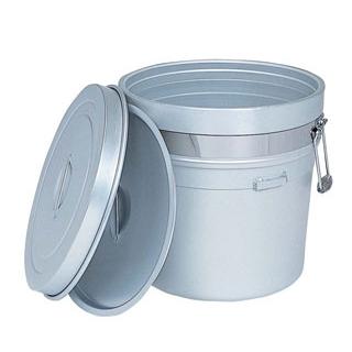 アルマイト 段付二重食缶(大量用)250-S 36L【 運搬・ケータリング 】 【ECJ】