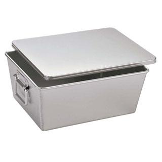 【まとめ買い10個セット品】アルマイト 深型 パン箱 20人用(蓋付)260-B【 運搬・ケータリング 】 【ECJ】