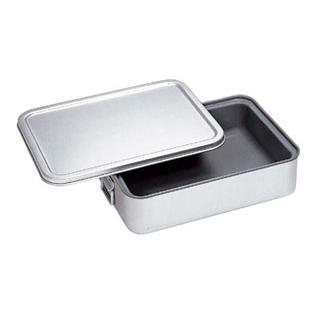 アルマイト 角型二重米飯缶 内面スミフロン(蓋付)264-DS【 運搬・ケータリング 】 【ECJ】
