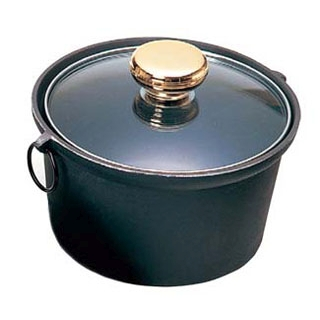 【まとめ買い10個セット品】 【業務用】アルミ合金1人用しゃぶ鍋 ガラス蓋付