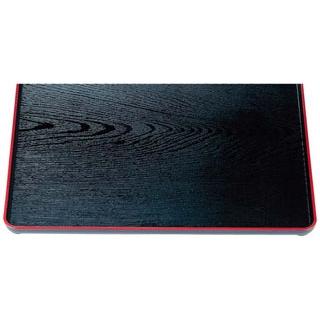 【まとめ買い10個セット品】 【業務用】地木目長手盆 黒天朱 尺5寸 ABS樹脂 1-62-5