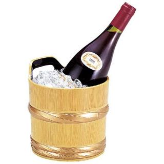 【まとめ買い10個セット品】 【業務用】桶ワインクーラー 白木帯金 1-827-10
