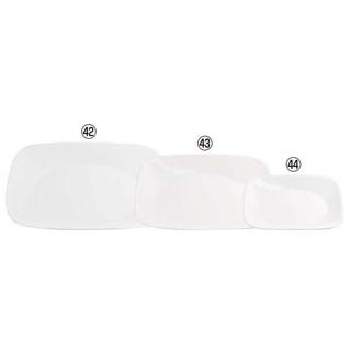 【まとめ買い10個セット品】 【業務用】コレール ウインターフロストホワイト スクエア大皿 J2213-N CP-8901