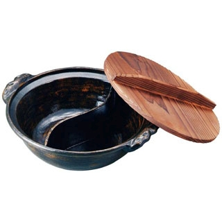 【まとめ買い10個セット品】 【業務用】アルミ 電磁源平鍋(黒アメ釉)27cm