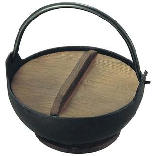 【まとめ買い10個セット品】トキワ 鉄 やまが鍋 413 18cm 黒塗り 敷台付【 卓上鍋・焼物用品 】 【ECJ】