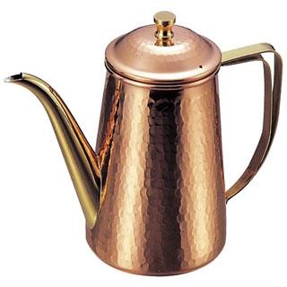 【まとめ買い10個セット品】 【業務用】銅 槌目入 コーヒーポット 5人用 740cc