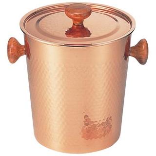 【まとめ買い10個セット品】 【業務用】銅 木柄蓋付 アイスペール S-5481L