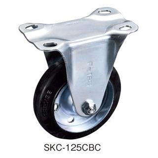 【まとめ買い10個セット品】 【業務用】一般キャスター(固定・ゴム車)SKC150CBC(ベアリング入)