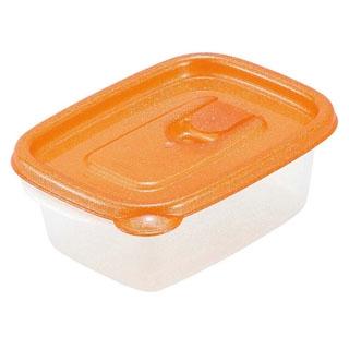 【まとめ買い10個セット品】ミューファン スマートフラップ角型(ミニ)3個入オレンジ A-044 MO【 ストックポット・保存容器 】 【ECJ】