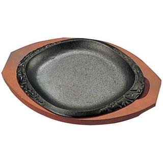 【まとめ買い10個セット品】 【業務用】YK 鉄 ステーキ皿 新月光 K-6
