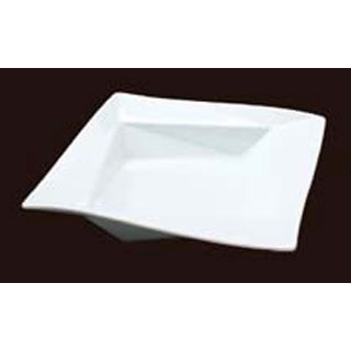 【まとめ買い10個セット品】 【業務用】白変形 折り紙21cm平鉢 B12-14