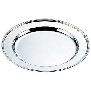 【まとめ買い10個セット品】 【業務用】H 洋白 丸肉皿 14インチ 三種メッキ 【20P05Dec15】