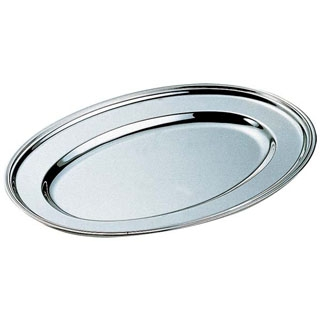【まとめ買い10個セット品】 【業務用】H 洋白 小判皿 16インチ 三種メッキ 【20P05Dec15】