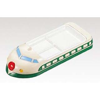 【まとめ買い10個セット品】 【業務用】メラミン ランチ皿 新幹線 緑