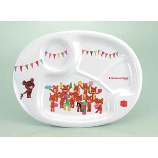【まとめ買い10個セット品】 【業務用】お子様食器 くまのがっこう ランチ皿 CM-69J