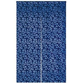 【まとめ買い10個セット品】藍染めのれん 花唐草 NID3117-BI【 店舗備品・インテリア 】 【ECJ】