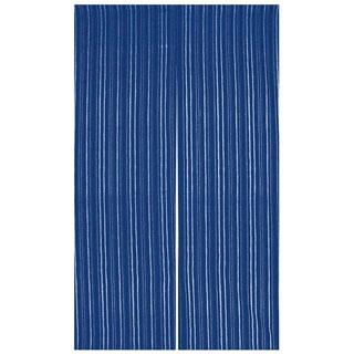 【まとめ買い10個セット品】 【業務用】藍染めのれん 京縞 NID3015-BI